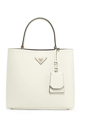Prada - Textured-leather Tote - White