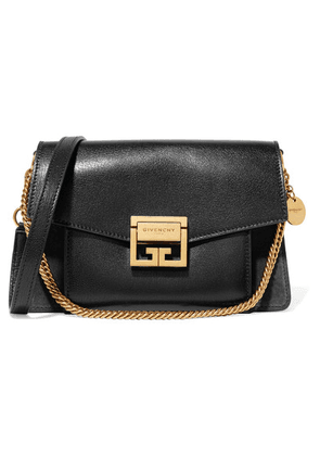 Givenchy - Gv3 Small Textured-leather And Suede Shoulder Bag - Black