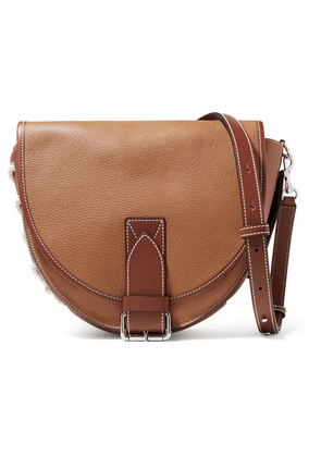 JW Anderson - Bike Lace-up Smooth And Textured-leather Shoulder Bag - Tan
