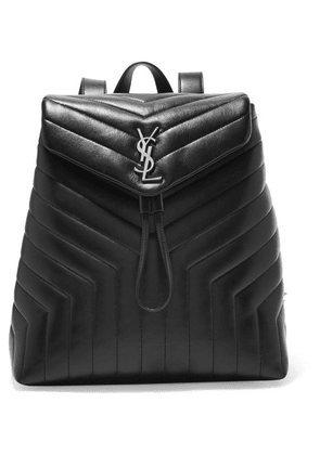 Saint Laurent - Loulou Medium Quilted Leather Backpack - Black