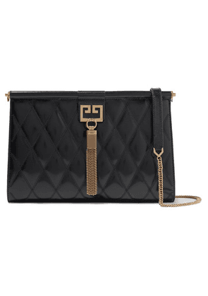 Givenchy - Gem Medium Quilted Glossed-leather Shoulder Bag - Black