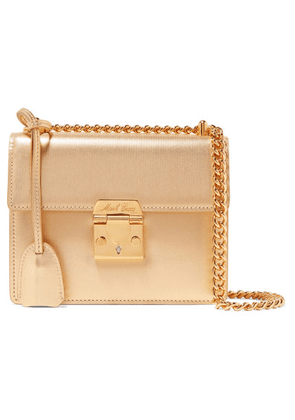 Mark Cross - Zelda Textured-leather Shoulder Bag - Gold