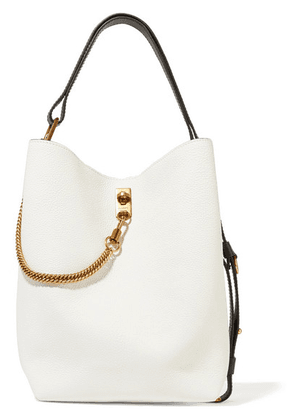 Givenchy - Gv Bucket Textured-leather Shoulder Bag - White