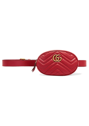 Gucci - Gg Marmont Quilted Leather Belt Bag - Red