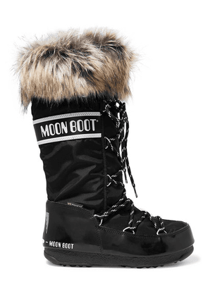 Moon Boot - Monaco Shell And Rubber Snow Boots - Black