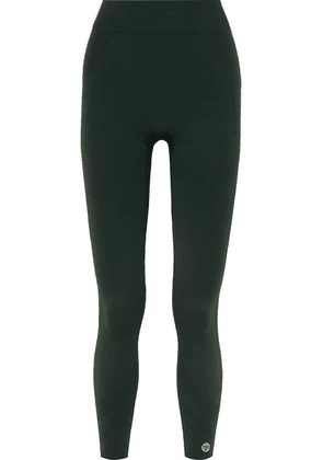 Tory Sport - Cropped Stretch-jersey Leggings - Green