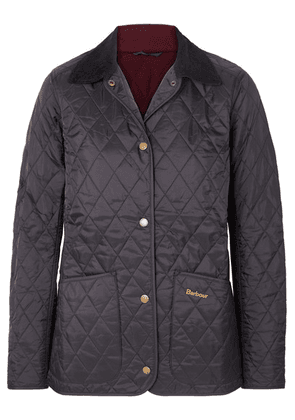 Barbour - Annandale Corduroy-trimmed Quilted Shell Jacket - Navy