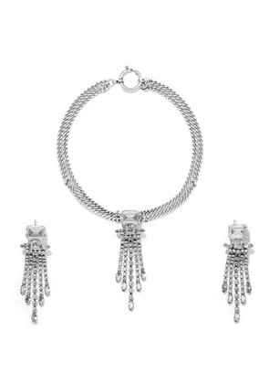 Isabel Marant - Silver-tone Crystal Necklace And Earrings Set - one size