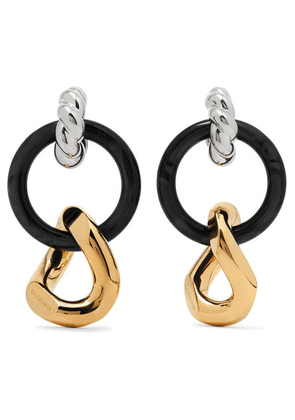 Balenciaga - Silver-tone, Gold-tone And Resin Earrings - one size