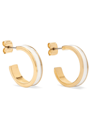 Isabel Marant - Gold-tone And Enamel Hoop Earrings - Ecru