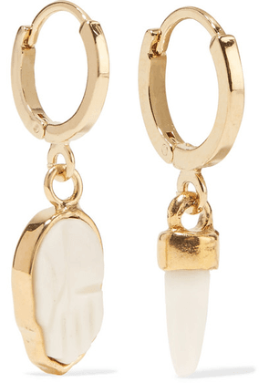 Isabel Marant - Gold-tone Horn Earrings - Ecru