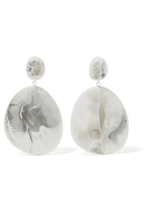 Dinosaur Designs - River Stone Resin Earrings - White