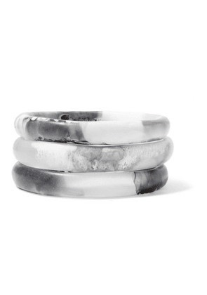 Dinosaur Designs - Wishbone Set Of Three Resin Bangles - White