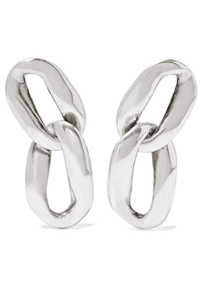 Saint Laurent - Silver-tone Clip Earrings - one size