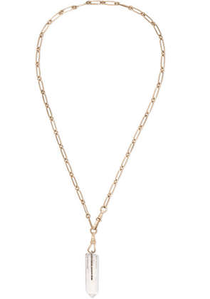Pascale Monvoisin - Moon 9-karat Gold, Diamond And Crystal Necklace - one size