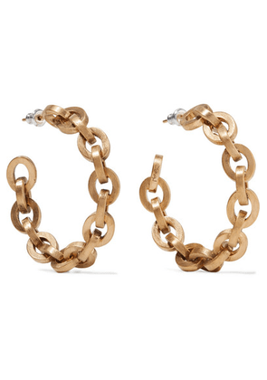 Saint Laurent - Gold-tone Hoop Earrings - one size