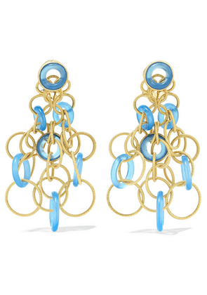 Buccellati - Hawaii 18-karat Gold Chalcedony Earrings - one size