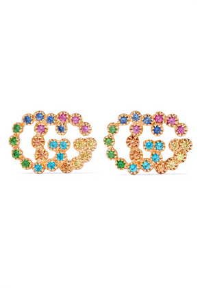 Gucci - 18-karat Gold Multi-stone Earrings - one size