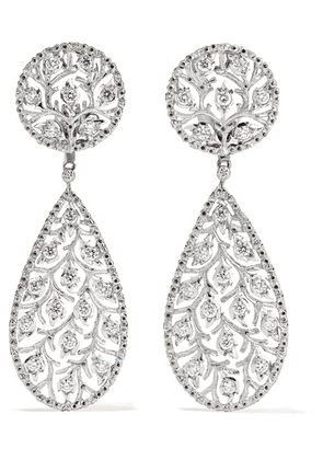 Buccellati - Ramage 18-karat White Gold Diamond Earrings - one size