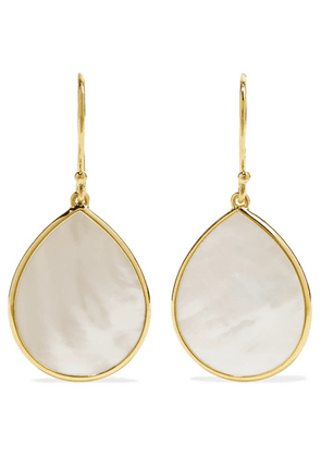 Ippolita - Polished Rock Candy 18-karat Gold Mother-of-pearl Earrings - one size
