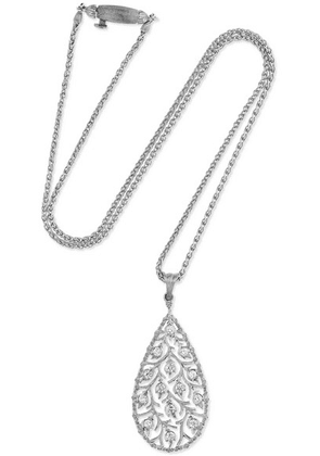 Buccellati - Ramage 18-karat White Gold Diamond Necklace - one size