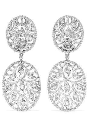 Buccellati - 18-karat White Gold Diamond Earrings - one size