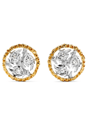 Buccellati - Ramage 18-karat Yellow And White Gold Diamond Earrings - one size