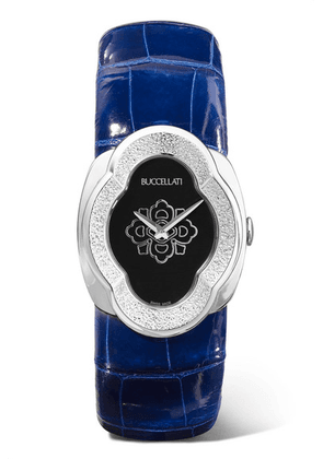 Buccellati - Opera 28mm 18-karat White Gold And Alligator Watch - one size