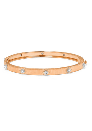 Buccellati - Macri 18-karat Pink And White Gold Diamond Bracelet - Rose gold