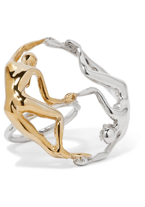 Paola Vilas - Dança Silver And Gold-tone Ring - 8