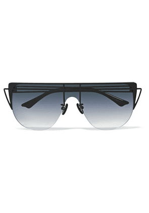 For Art's Sake - Alien D-frame Metal And Acetate Sunglasses - Blue