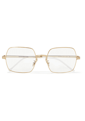 Cutler and Gross - Square-frame Gold-tone Optical Glasses - one size
