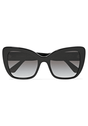 Dolce & Gabbana - Cat-eye Acetate Sunglasses - Black