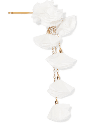 Rosantica - Brezza Gold-tone, Faux Pearl And Satin Hair Slide - White