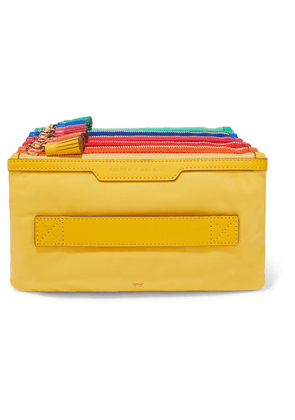 Anya Hindmarch - Filing Cabinet Leather-trimmed Shell Pouch - Yellow