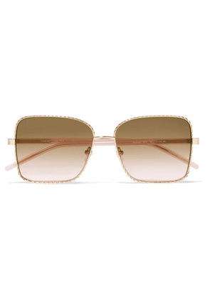 For Art's Sake - Mobster Square-frame Gold-tone And Acetate Sunglasses - Brown