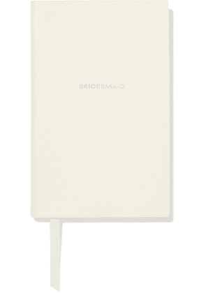 Smythson - Panama Bridesmaid Textured-leather Notebook - White