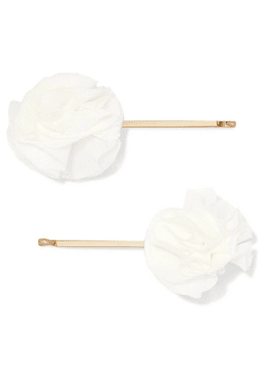 Rosantica - Brezza Set Of Two Gold-tone And Gauze Hair Slides - One size