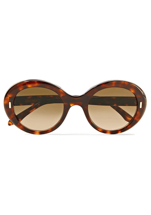Cutler and Gross - Round-frame Tortoiseshell Acetate Sunglasses - one size