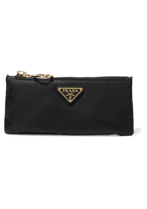 Prada - Leather-trimmed Shell Cosmetics Case - Black