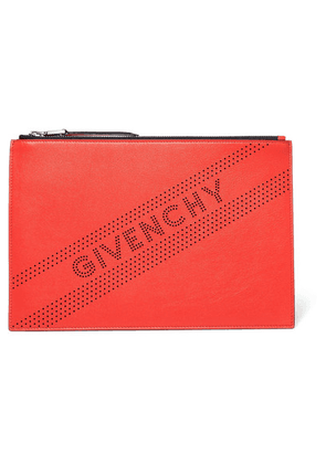 Givenchy - Perforated Leather Pouch - Red