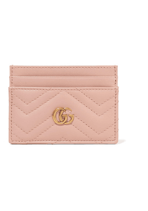 Gucci - Gg Marmont Quilted Leather Cardholder - Blush