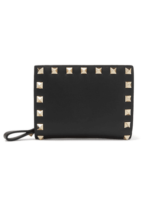 Valentino - Valentino Garavani The Rockstud Leather Wallet - Black