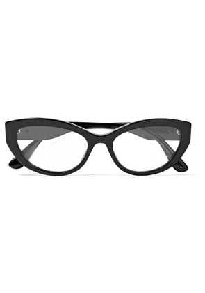 Dolce & Gabbana - Cat-eye Acetate Optical Glasses - Black
