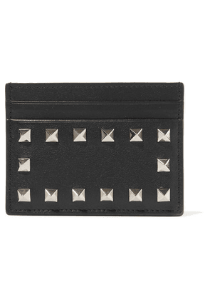 Valentino - Valentino Garavani The Rockstud Leather Cardholder - Black