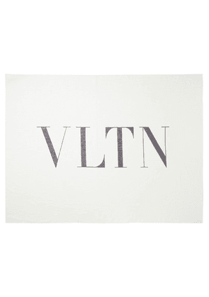 Valentino - Reversible Printed Cotton And Silk-blend Twill Scarf - White