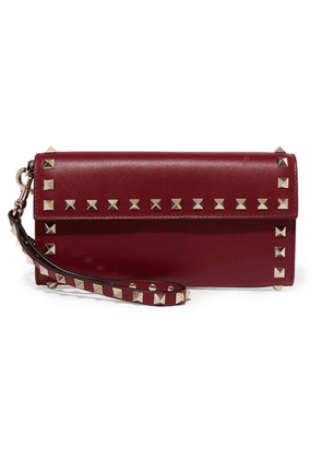 Valentino - Valentino Garavani The Rockstud Leather Continental Wallet - Burgundy