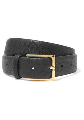Anderson's - Textured-leather Belt - Black