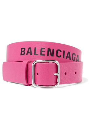 Balenciaga - Everyday Printed Textured-leather Waist Belt - Pink
