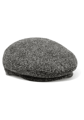 Isabel Marant - Gabor Herringbone Wool-tweed Cap - Gray